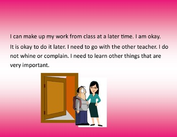 I need to work with another teacher.