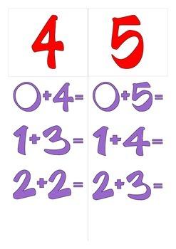 I numeri amici - Versione rosso e viola - Complementary sum - Italian