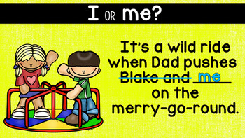 I or Me?: A FREE Grammar PowerPoint