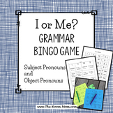 I or Me? Bingo Grammar Game (freebie)
