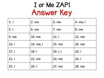 I or Me Pronoun ZAP!