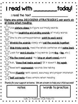I read with my teacher today! Comprehension and Decoding Strategies