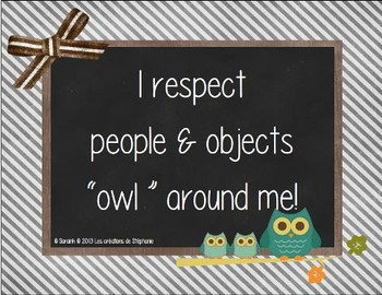 """I respect people & objects """"OWL"""" around me!"""