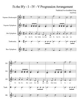 I's the B'y Orff Arrangement using I, IV, and V Chords