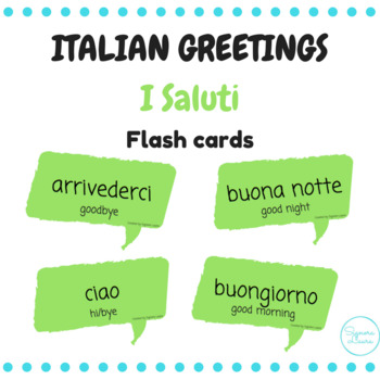 I saluti italian greetings flash cards by signora laura tpt i saluti italian greetings flash cards m4hsunfo