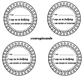 I say no to bullying circle classroom and desk