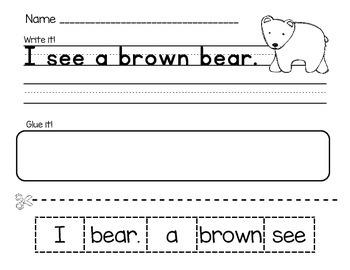 I see... Animal & Color Word Sentences