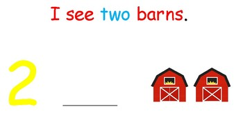 I see...Barns (number 1-10) interactive book