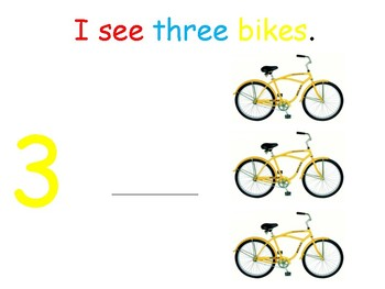 I see...Bikes (number 1-10) interactive book