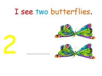 I see... Butterflies (number 1-10) interactive book