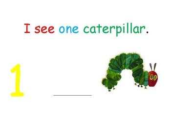 I see... Caterpillars (number 1-10) interactive book