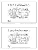 """I see Halloween"" Emergent Reader"