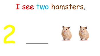 I see... Hamsters (number 1-10) interactive book