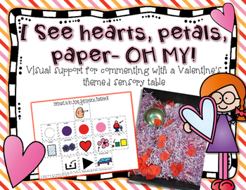 I see Hearts, Petals, Paper- OH MY! {Sensory Table Visual support; autism}
