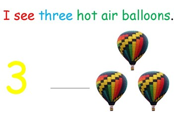 I see...Hot Air Balloons (number 1-10) interactive book