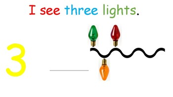 I see...Lights (number 1-10) interactve book