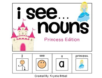 EASY READER I see + Noun Adapted Book Special Education Autism