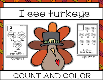 I see Turkeys; Count and Color