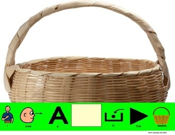 I see a __________ in the basket. Easter Vocab & Prepostions