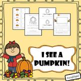 I see a pumpkin!  (mini book and worksheets)