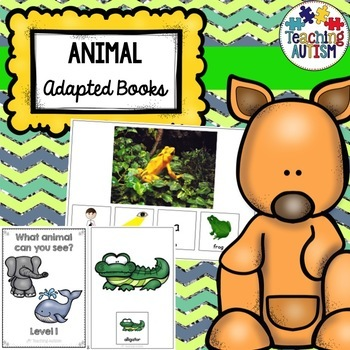 Animal Sentence Building Books, Adapted Books