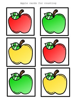 I see apples! (math pocket chart activity)
