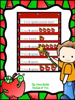 I see apples! (math pocket chart activity)