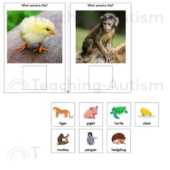 Baby Animal Sentence Building Adapted Books