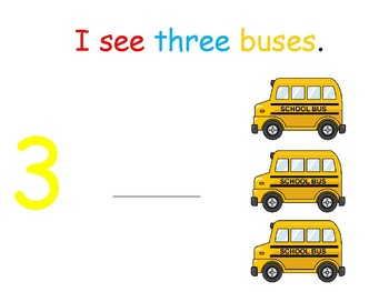 I see... buses (number 1-10) interactive book