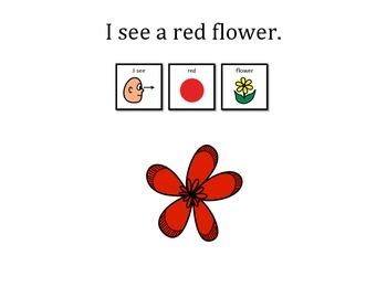 I See Colorful Flowers! Learn colors, following directions, matching activity