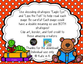 I see... decoding strategy reader! Eagle eye and lips the fish! FREEBIE