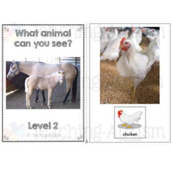 Farm Animal Photo Adapted Books for Special Education