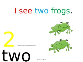 I see... frogs (number 1-10) interactive book
