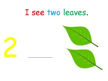 I see... leaves (numbers 1-10) interactive book