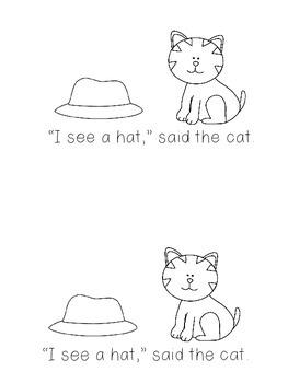 """I see,"" said the cat  Kindergarten Sight Word Rhyming Reader"