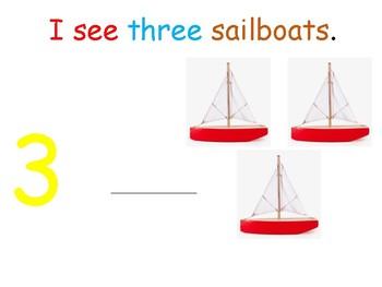 I see... sailboats (number 1-10) interactive book