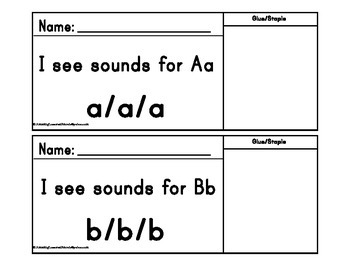I see sounds for letters Aa thru Zz cut and paste