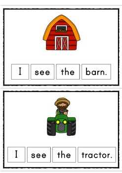 I see the Farm Easy Reader Patterned Sentences for Beginning Readers