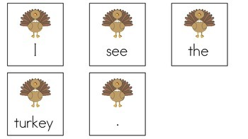 I see the turkey/ Yo veo el pavo (English and Spanish)