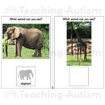 Zoo Animals Adapted Books for Special Education
