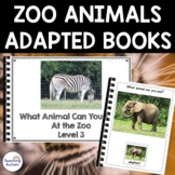 Zoo Animals Sentence Building Books, Adapted Books