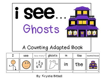 COUNTING...I see... Ghosts Adapted Book Special Education Autism