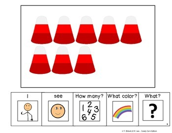 I see...How Many? Color? What? Candy Corn Adapted Book Special Education Autism