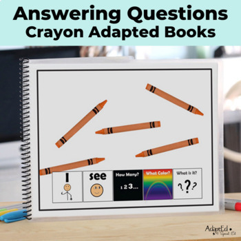 How Many? Color? What? Crayon Adapted Book Special Education Autism