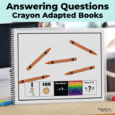 Adapted Book and Easy Reader Crayons Set