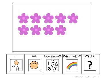 I see...How Many? Color? What? Farm Adapted Book Special Education Autism