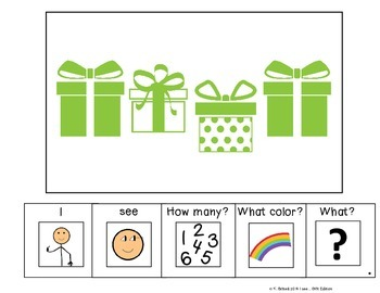 I see...How Many? Color? What? Gift Present Adapted Book