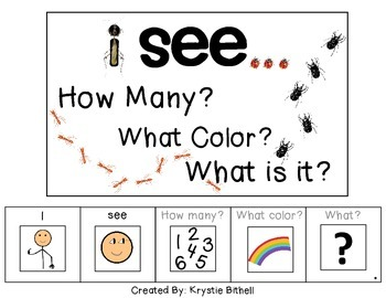 I see...How Many? Color? What? Insect Adapted Book BUGS Sp