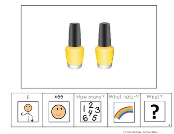 I see...How Many? Color? What? Nail Polish Adapted Book Special Education Autism