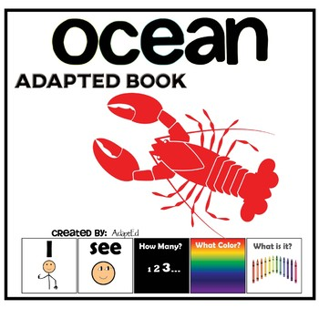 I see How Many? Color? What? Ocean Adapted Book Special Education Autism